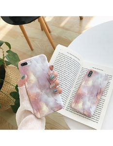 Temperament marble iPhone7plus phone case apple X 8 6s personality all-inclusive anti-fall Korean wave men and women Free shipping