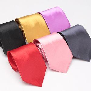 Men Tie Solid Fashion Wedding Ties for Men Business Classic Mens Gifts Tie Corbatas Dress Accessories Man Black Red Blue Necktie