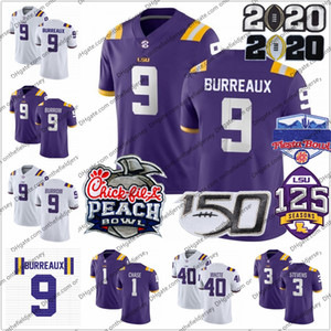 NCAA 2020 LSU tigres BURREAUX 9 Joe Madriguera 1 Ja'Marr de Chase 7 de Grant Delpit 22 Clyde Edwards-Helaire 24 Derek Stingley Jr. Football jerseys
