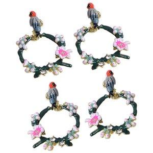 Charms 4x Pássaro Garland DIY pingentes de jóias Brincos Localizar colar Decoração