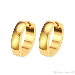 2019 Fashion Stainless steel C Stud Earrings for Women jewelry Genuine Jewelry gold color love earring Enamel Party Gift