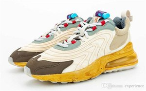 2020 Release 270 Travis Scott 270S Işık Krem Cactus Jack Koyu Hazel Mika Yeşil Denizyıldızı Erkekler Koşu React Otantik Ayakkabı Sneakers