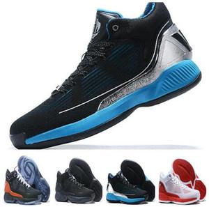 barato Rose 10 Derrick Branco Negros Red Basketball Shoes Rose 10 de Homens Sneakers Derick X Preto Basketball Shoes yakuda