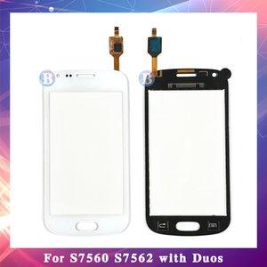 """10 pçs / lote alta qualidade 4.0 """"para samsung galaxy tendência duos s7562 s7560 sensor de tela de toque digitador painel de lente de vidro exterior"""