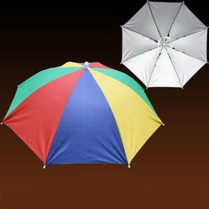 Sunny Ombrella Cap Protezione solare Escursionismo Spiaggia Campeggio Cappelli Cappelli Pesca Copricapo Ombrellone Pioggia Ombrello Cappello Pioggia Pieghevole portatile