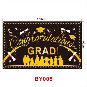 Temporada Graduado de Congrats da graduação da bandeira Bandeira de Ouro Bandeiras Decor Fotografia da bandeira para a classe de 2020 alunos do partido LJJA4064 Atire