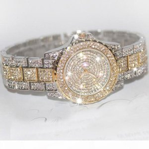 Diamond Watches Luxury Top Brand Ladies Watches Crystal Rhinestone Wristwatches Stainless Steel Women Gold Watch bracelet Clock S924W