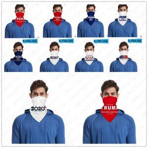mit PM2.5 Filter Slot Masken Multifunktions-Dreieckstuch Half Face einen.Kreislauf.durchmachenschal BIDEN Präsident 2020 Donald Trump Letters Print D52815