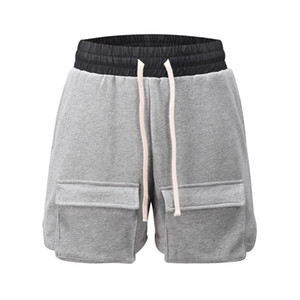 Hombres de diseno de verano pantalones cortos con cordón Bolsillo Corto Trajes de Moda Casual Pantalones cortos para correr Calle fitness