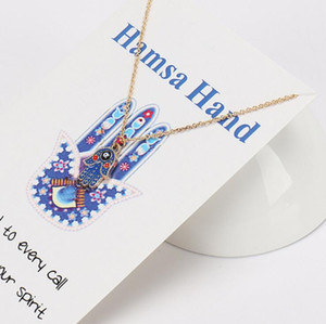 jóias hamsa pingente de mão colar olhos sorte pendnat colar para hot moda unissex livre do transporte