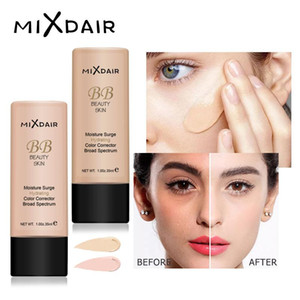 Mixdair الوجه الأساس السائل ترطيب المكياج قاعدة bb كريم اشراق المخفي الطبيعية التمهيدي تغطية كاملة 4 قطعة / الوحدة