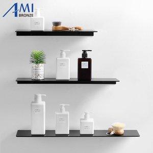 검은 공간 알루미늄 욕실 선반 단일 계층 선반 샴푸 선반 주방 욕실 랙