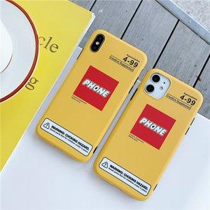 Yellow phone logo for Designer Iphone Case Slim Soft TPU Phone X XS MAX XR 8 8Plus Bumper Cushion Anti-knock Protective Shell