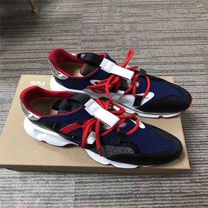 Последние дизайнерские красные кроссовки Red Runner Донна Кристал Spike Sock Vrs 2018 Кроссовки Неопреновые заклепки кроссовки для плоской обуви