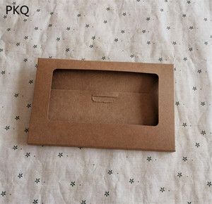 Kraft Paper Hollow Window Framd Box Photo Box Fold Diy Picture Envelope