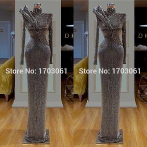 Bling New Couture Dubai Prom Dresses Abito da sera formale slim Abiti da festa turchi musulmani su misura Abiti arabi sauditi 2019