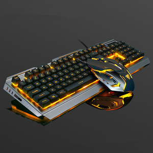 V1 Roboter Feel Keyboard Maus Set Notebook Desktop Wired Gaming Keyboard Tastatur Maus Combos DHL Free