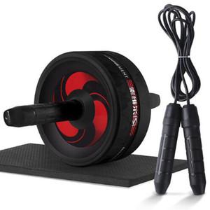 جديد 2 في 1 آب RollerJump حبل لا الضوضاء البطن عجلة أب الرول مع حصيرة على الخصر الذراع الساق ممارسة رياضة معدات اللياقة البدنية