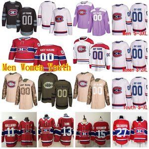 Personalizado Montreal Canadiens Jerseys Nate Thompson Max Pacioretty Guy Lafleur Jeff Petry Christian Folin Vermelho branco do hóquei Jersey costurado