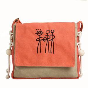 Ручной работы женщины сумка старинные печати текста холст сумки оранжевый досуг сумка фарфора Юньнань этнической группы Дизайн Mochila B24