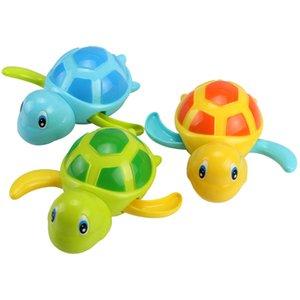 3PCS 귀여운 만화 동물 거북이 클래식 아기 물 장난감 유아 수영 거북이 상처 업 체인 시계 키즈 비치 목욕 장난감