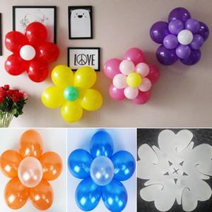 5 Em 1 Balloon Modeling fecho de encaixe Balão Varas clipes Laço Ameixa Flor Latex Balloon Sealing fontes do casamento decoração do partido