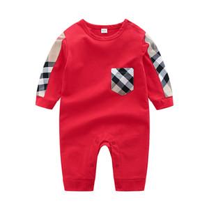 Venta al por mayor de alta calidad del bebé del verano roupa de bebe recién nacido mono de manga larga de algodón pijamas 0-24 meses mamelucos ropa de bebé