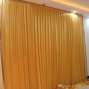 3M yüksek * siyah fon rengi Parti Perde Celebration perdesi 3M geniş düğün Performans Arkaplan Saten Örtü duvar saçak draps