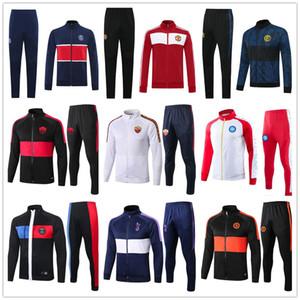 2020 Roma Nápoles París chaqueta de chándal del fútbol fijado Chaqueta 2019 2020 de alta calidad de la chaqueta de los hombres de fútbol Futebol trotar cremallera completa