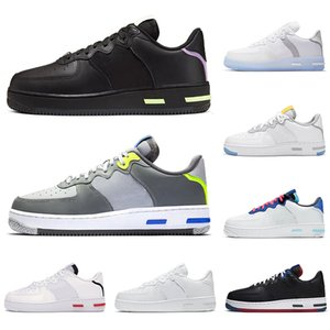 nike air force 1 react forces chaussures airforce 1 hommes femmes chaussures de course Light Bone White Black Red Smoke Grey USA hommes femmes formateurs sports sneakers runners
