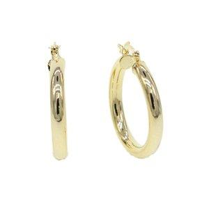 di spessore grande 4 30mm * liscio del cerchio per le donne ad alto argento lucidato colore Oro donne bellissime modo dei gioielli classico perno dell'orecchio