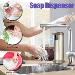 280ml Automatic Liquid Soap Dispenser Stainless Steel Sensor Soap Dispenser Pump Shower Kitchen Soap Bottle for Kitchen Bathroom CCA12220