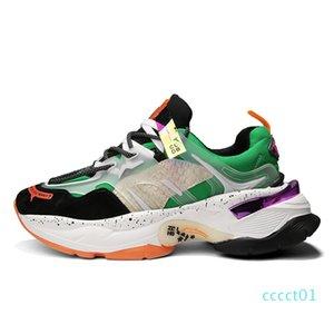 VSIOVRY otoño hombres populares zapatos de papá de los zapatos ocasionales inferior grueso del amortiguador Caminar zapatillas de deporte 1 cuenta Chunky zapatillas con cordones de los hombres respirables de