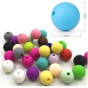 Силиконовые бусины BPA бесплатно 9/12/15 / 19 мм силиконовые прорезывания зубов бусины для ожерелья соска цепи детские прорезыватель
