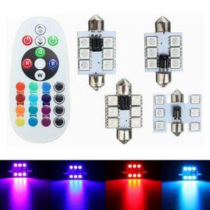 10pcs RGB LED 31 36 39 41mm 5050 SMD 6 LED-Birne DC12V Auto Auto-Innenhaube Leseleuchten Festoon super helle Lampe