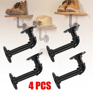 15x8cm Pipe Shelf Braket Iron Industrial Pipe Shelf Bracket Building Bracket Storage Holders Racks Home