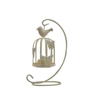 Titulares Decor Candle Vintage Gaiolas Candelabra pássaro Castiçais decorativa para a decoração Home