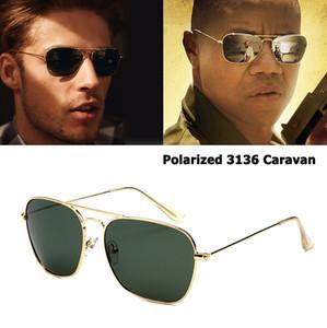 JackJad Classic 3136 CARAVAN Style Polarized Square Aviation Sunglasses Hombres Vintage Retro Diseño de Marca Gafas de Sol Gafas de Sol