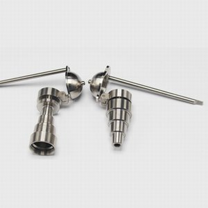 6 em 1 Universal titanium prego masculino feminino mel balde bong 10mm 14mm 18mm fumar dabber accessorie ferramenta com lado de beisebol carb Cap