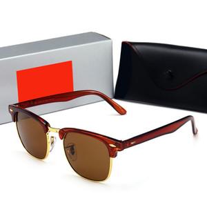 RayBan RB3016 Designer de óculos de sol mulheres COATING SUNGLASSES homens Retro óculos de sol alvenaria rendas óculos de pérola saco com saco de flores