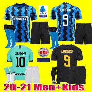 Hommes maillot de football pour enfants INTER MILAN ERIKSEN Lukaku LAUTARO ALEXIS 20 21 PERISIC Škriniar chemises de football 2020 GODIN uniformes 2021