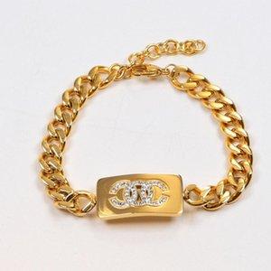Brand Stainless steel Full drill letter Bracelet 18K Rose Gold Titanium Steel Bracelet couple jewelry wholesale love bracelet bangle