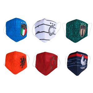 Masque de football Real Madrid coton flamengo utilisation durable masques jetables remplaçables équipe de football gros club de football masque Protect