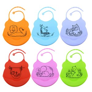 Baby Bib Easil Roll Up Water Against oil Soft Silicone Cramb Drip Catcher Easy Wipes Least-Proof Mouth Pocket Apron
