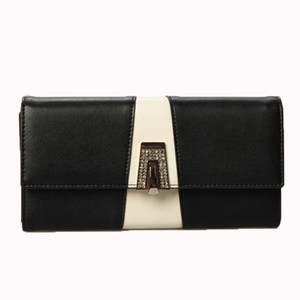 Lucky2019 Spelling Joker Color Ma'am Hand Take Package Genuine Leather Head Layer Cowhide Long More Than Money Function Wallet
