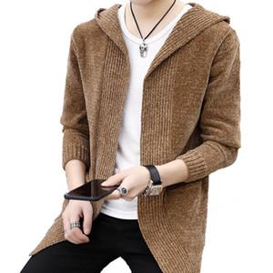 Мужская Весна с капюшоном вязаный свитер мужчины кардиган новый стиль Мужская верхняя одежда осень свитер куртка