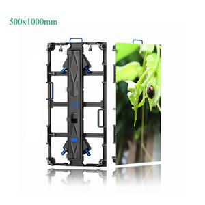 Pantalla LED para exteriores 4.81 Pantalla LED de alquiler de 500 * 1000 mm Pantalla LED para exteriores Video Wall para escenario