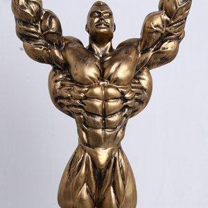 große Größe 42cm männlich Boxen Fitness Zubehör Bodybuilding Trophy Box-Champion männlichen Modell Medal Award Trophy Hauptlieferungs-Sport-Andenken