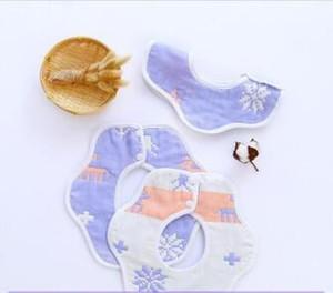 Maternal and child baby children bib baby supplies six layers of gauze cotton new baby saliva towel JXW211