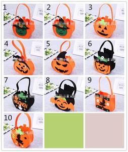 Halloween Non-woven Candy bags 28x15x8cm Kids Trick or Treat felt pumpkin hand bag Children's halloween classic props